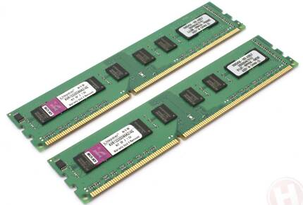 Kingston 4GB 2x2GB PC3-10600 DDR3 (KVR1333D3N9K2/4G) West Perth Perth City Preview