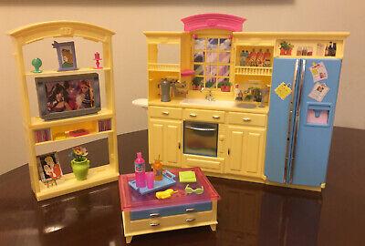 Vintage Barbie 2002 Living Room And Kitchen Furniture