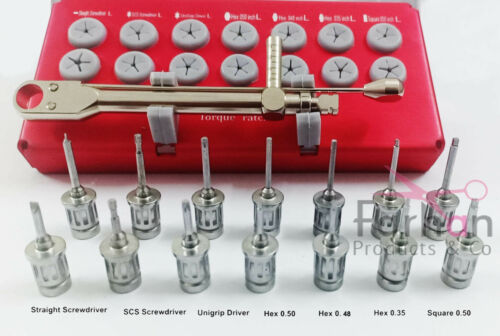 Dental Implant Universal Prosthetic Kit with Drivers and Wrench