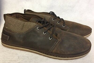 (Teva Mens Cedar Canyon Waxed Leather Desert Boot Shoes Lace Up Fashion Sneaker)