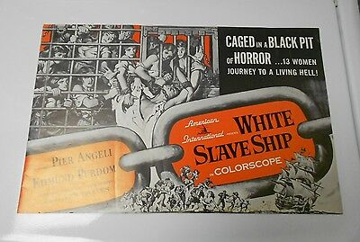 1961 WHITE SLAVE SHIP Press Book Kit Pier Angeli Edmund Purdom FN+