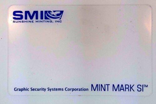 Sunshine Minting SI Decoder Lens Card Mint Mark Bullion Product Security Feature