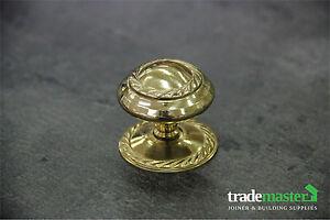 Polished Brass Georgian Kitchen Cupboard/Draw Knob 38mm