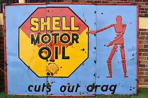 Shell Embossed Enamel Sign Young Young Area Preview