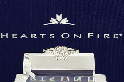 0.73 ct Platinum HOF Hearts on Fire Transcend Dream Cut Diamond Engagement Ring