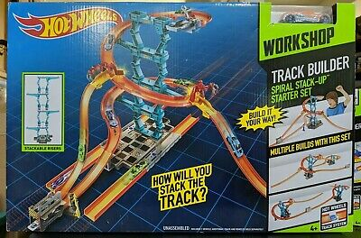 Hot Wheels Track Builder Spiral Stack Up Builds Up To 30 Inches High 1 Car Inc..