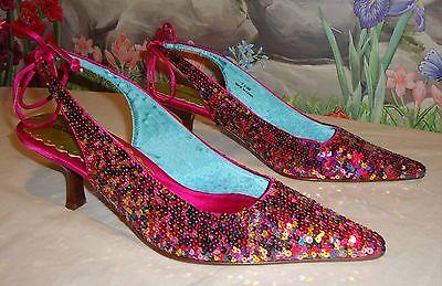 Beverly Feldman Sequins Dress Shoes 7.5