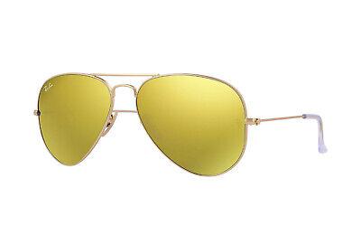Ray Ban Sonnenbrille Aviator RB3025 112/93 Matt Gold Rahmen W / Gespiegelt Linse