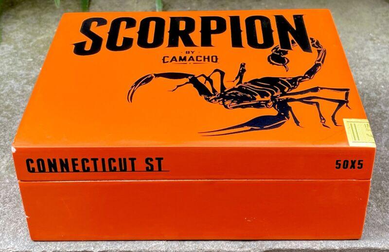 Camacho Scorpion Empty Cigar Box, Orange