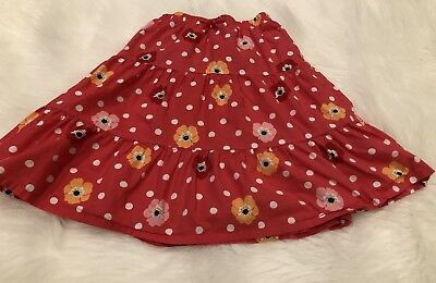 Gymboree Blooming Nautical Dot Poppy Tiered Skirt Size 5