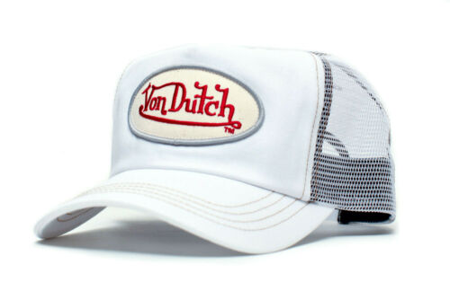 Authentic Vintage New Von Dutch White Chris Cap Hat