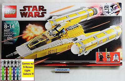 Lego Star Wars   8037 Anakins Y Wing Starfighter Nisb Ahsoka Minifigure Clone