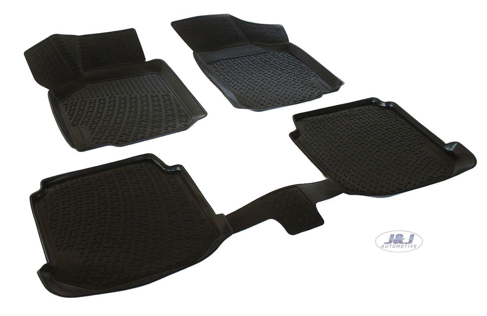 3D Exclusive Tapis DE Sol en Caoutchouc Compatible avec TIGUAN 2007-2015 4pcs J/&J AUTOMOTIVE