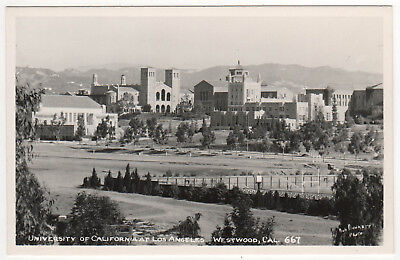 UCLA University California Los Angeles RPPC RP Real Photo Postcard WESTWOOD CALI