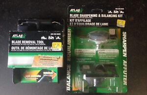 Lawn mower blade sharpening kit + bonus