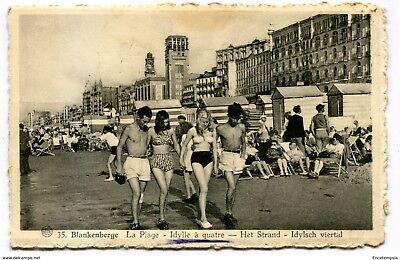 CPA-Carte postale-BELGIQUE- Blankenberghe -La Plage - Idylle à Quatre (CP2762)