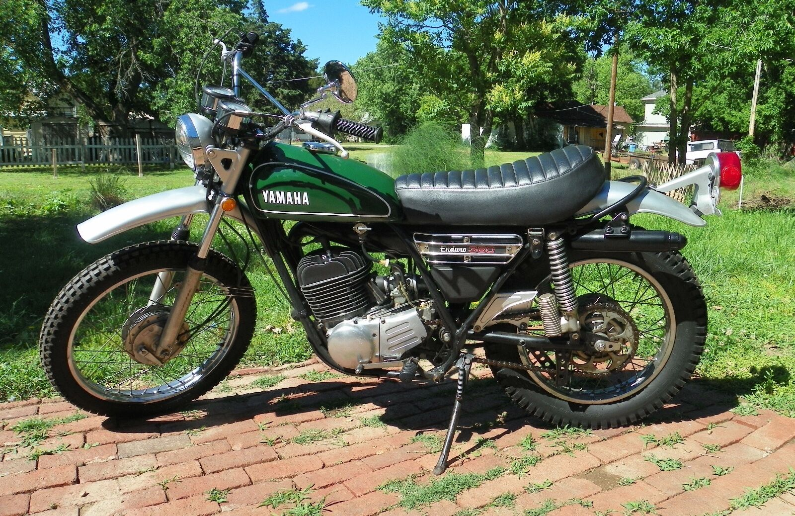 1974 yamaha enduro dt360 motorcycle 3 116 miles runs for Yamaha 360 enduro