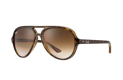 NEW RAY-BAN CATS SUNGLASSES Tortoise Frame / Light Brown Gradient Lenses -