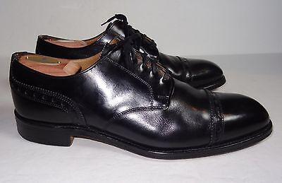 Churchs Royal Premium Grade Tweed Cap Toe Balmoral Black Leather 10 5 Uk  11 Us