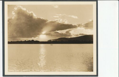 1930s US Army Air Corp  sunset on the Waianaes Oahu Hawaii 7x9 Photo
