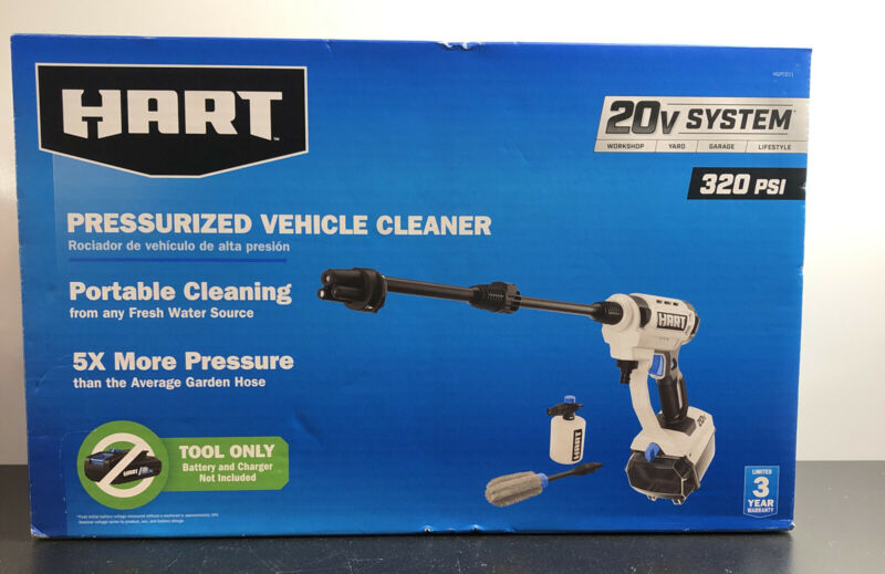 BRAND NEW SEALED! Hart 20V Pressurized Vehicle Cleaner (Battery Not Included)