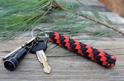 550 Paracord Twist Braid Key Ring Fob