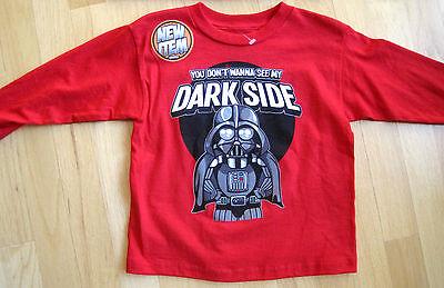 Star Wars Toddler Red Long Sleeve Darth Vader Dark Side T-Shirt