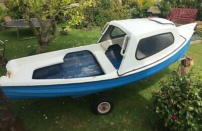 Orkney Maxi Craft 12.5ft, Fibreglass Boat & 3.5hp engine & Hand Launch trailer