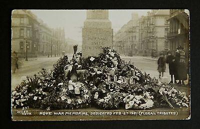 WW1 Period Postcard RP Hove Brighton War Memorial Southwood Rd Tumbridge Wells