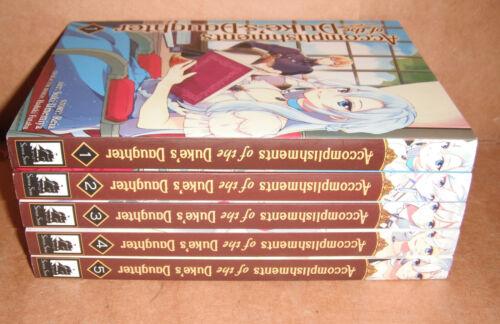 Accomplishments of the Duke's Daughter Vol. 1,2,3,4,5 Manga Set English