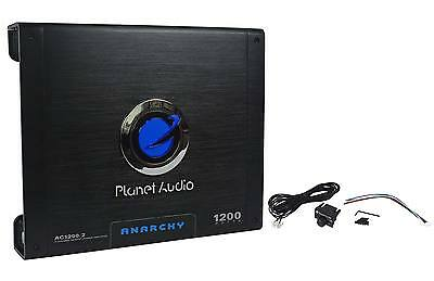 New Planet Audio Anarchy AC1200.2 1200 Watt 2 Channel Car Amplifier Amp + Remote