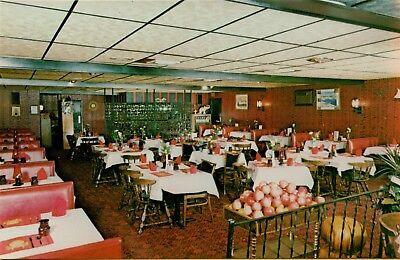 Interior Dining Room View Kefallinia Restaurant Woonsocket RI Postcard A34