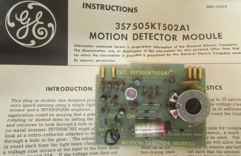 GE GENERAL ELECTRIC 3S7505KT502A1 Motion Detector Photocell PC Control Board