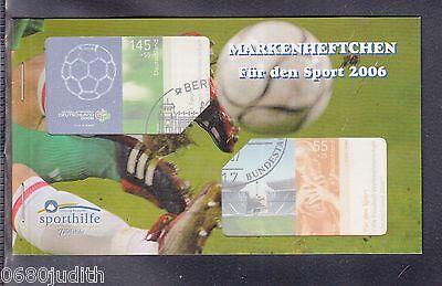 A 30 ) BRD Germany Sport Markenheftchen 2006 ESST Berlin - Für den Sport