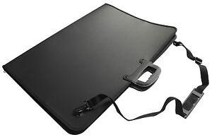 A2 Art Folder Case Black - Portfolio - Waterproof - Carry Handle