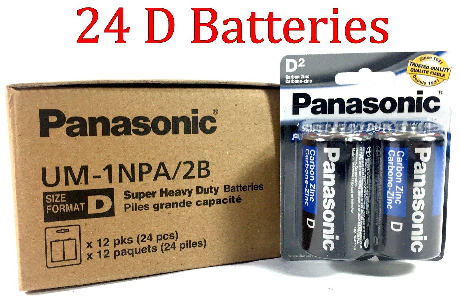 24 Wholesale D Panasonic Battery Batteries super heavy duty