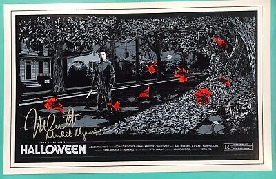 NICK CASTLE Actor MICHAEL MYERS in HALLOWEEN signed 11x17 Photo #1 MONDO STYLE (Halloween Nick)