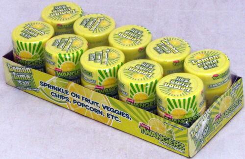 Twang Twangerz Salt Lemon Lime Bulk 10 Ct Snack Topping 1.15 Oz Shakers Popcorn