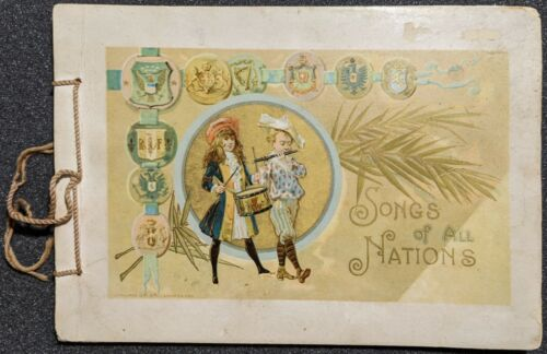 Rare Vintage 1894 Songs Of All Nations Lion Heads Coffee Advertisement Premium