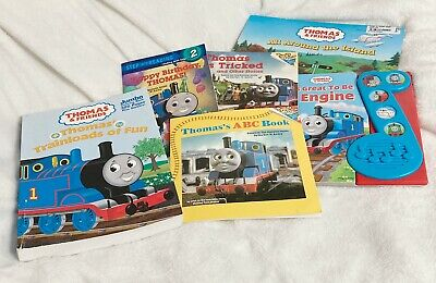 Thomas the Train & Friends, Lot of 6 Reading and Coloring Book, English