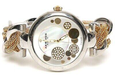 Akribos XXIV Womens Silver Tone Gold Watch 0483