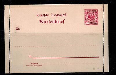 Ganzsachen Deutsches Reich Kartenbrief K 1 3-teilig ungebraucht  -int.88