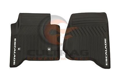 2015-2018 Cadillac Escalade GM Front All Weather Floor Mats Black 23452752