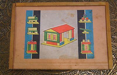 DDR Spielzeug, Holz Baukasten, Holzklötze