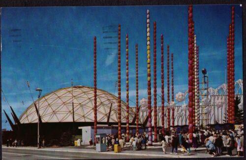 VINTAGE LITHOGRAPH 1962 SOUTH GATE SEATTLE WASHINGTON WORLD