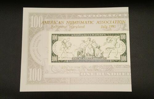 1993 BEP Souvenir Card B 173 ANA 100 Federal Reserve Note 1914 Mint  - $7.50