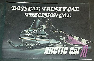 1970 ARCTIC CAT SNOWMOBILE LEAFLET STYLE SALES BROCHURE  (501)