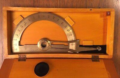 Rare Gama Antique Brass Professional Protractor