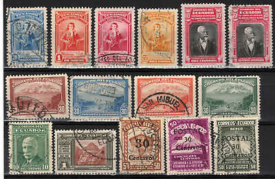 ECUADOR Scott 398//435 C91//C99 Mostly Used ## 1 cent start ##