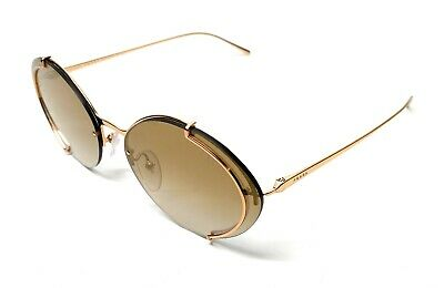 Prada SPR 60U 5AK-2G2 Gold Women's Authentic Sunglasses 63 mm